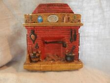 """Vintage Plaster Fireplace Wall Hanging 7"""" 1979"""