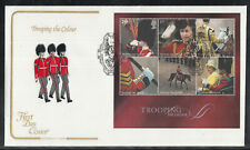 GB Great Britain FDC 2005 - Trooping the Colour on 6 beautiful FDC