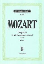 Partition orchestre chorale voix soliste - Mozart - Requiem d-moll KV 626