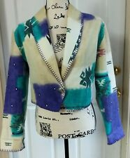 Rhonda Stark Medium Womens Cropped Western Southwest Aztec Cotton Jacket