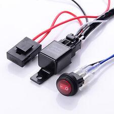12V 40A Relay Wiring Harness Work Fog Light Bar Kit ON/OFF Switch Led Spotlight