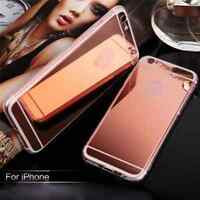 Luxury Ultra-thin Soft Silicone TPU Mirror Case Cover For Apple iPhone  6 7 4S 5
