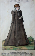 SCHWABEN AUGSBURG AMMAN WEIGEL TRACHTEN KOSTÜME AUGUSTANA MULIER PLEBEIA 1577