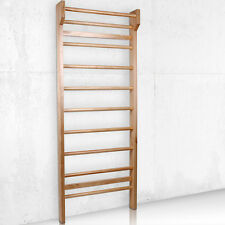 Swedish Ladder Wall Bars Wooden Gymnastic Frame Home Workout Equipment 195x80cm