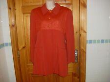 Ladies Irish designer MICHEL AMBERS dress coat burnt orange size 10 UK vgc a