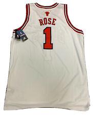 New Derrick Rose 2X White Adidas Swingman 2011 NBA Jersey Chicago Bulls Jersey