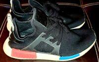 Adidas NMD _XR1 Primeknit OG Black White Red Blue Men's Size 10