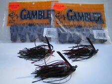 GAMBLER NINJA CLAW Trailers - Black with Red Glitter w/3 Custom Mustad EWG Jigs