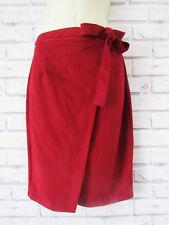 River Island Moleskin Faux Suede Wrap Skirt Secretary Size 8