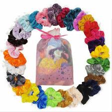 10/20pcs Bobbles Elastic Velvet Hair Bands Holder Pink Bag Pack Hair Scrunchies