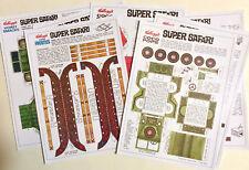 CEREAL TOY PANEL REPROS X 7 ~ SUPER SAFARI 1966 ~ HI-RES, KELLOGGS COCO POPS