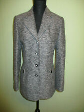 BIBA Tweed Long Blazer Jacke Gr.34 grau TOP Zustand!