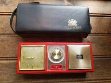 Vintage Philip Morris International Clock Radio AM/FM W/Case Marlboro / Works