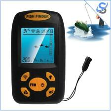 Portable Fish Finder Fishing Sonar Lcd Display 100M Depth Led Temperature Sensor
