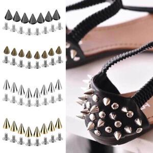 20/50/100 Sets Leather Craft Screwback Cone Studs Bullet Spike Punk Rivets