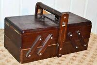 Bauletto Cassa scatola Porta cucito in legno Vintage anni 70 80 da porta lavoro