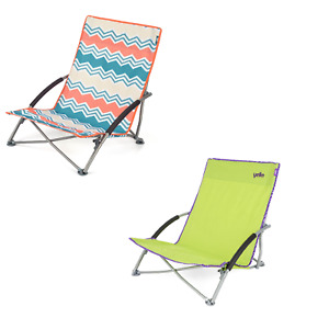 Yello Folding Low Chair Collapsible Beach Chair With Arms