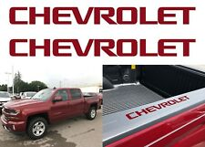 Colormatched Cajun Red Bed Rail Cap Decal Inserts For 2014-2018 Silverado New