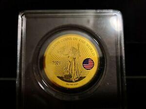 Gold Münzen 999 1/200 Oz 999 2021 Liberty