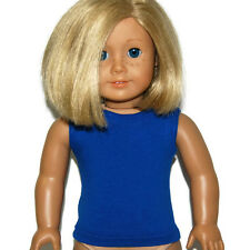 """ROYAL BLUE TANK TOP - Doll Clothes - fits 18"""" American Girl Dolls"""
