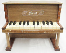 """Vintage Jaymar Childs Toy Piano 25 Keys All Working 12.25"""" Tall Made in USA"""