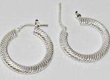 STERLING SILVER (925) LADIES HOOP CREOLE EARRINGS