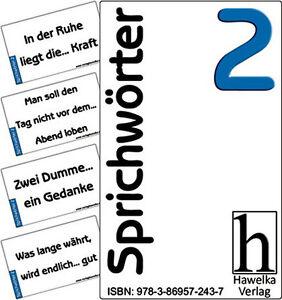 Sprichwörter 2 - 50 praktische Aktivierungskarten - ideal in der Altenpflege