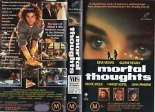 MORTAL THOUGHTS - Demi Moore-  VHS -PAL -NEW -Never played! -Original Oz release
