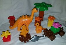 VTG LEGO Duplo Dinosaur Set 2604 Piece Dino World Big Baby Orange Brachiosaurus