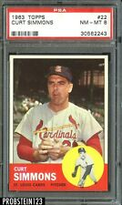 1963 Topps #22 Curt Simmons Cardinals PSA 8 NM-MT