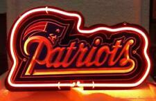"""New England Patriots 3D Carved Neon Sign Beer Bar Gift 14""""x10"""" Light Lamp"""