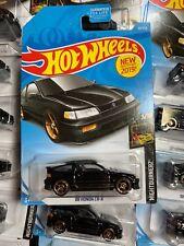 Black 88 Honda Civic CRX Si 2019 Hot Wheels Nightburnerz Jdm Diecast Car - CR-X