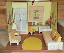 Vintage Remco 1963 John Lisa Littlechap Family Room Foldaway Doll House Awesome!