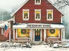 John Rossini Old General Store Christmas Art Print Country Christmas (16x12)