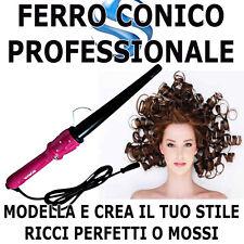 PIASTRA A CONO RICCI PERFETTI CAPELLI ONDE PROFESSIONALE FERRO ACCONCIATURE HAIR