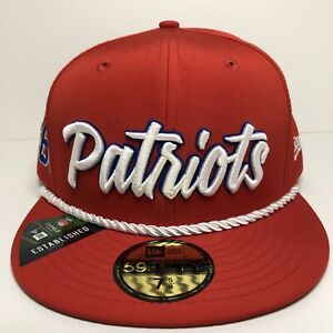 New Era Red New England Patriots 2019 NFL Sideline 59FIFTY 1960 Fitted Hat 7 5/8