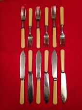 Vintage chromée set of Fish cutlery c.1910-1935