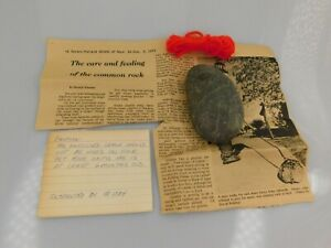 Vintage 70s Pet Rock - Rock LIMITED EDITION With Purebred Papers + Leash