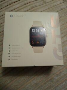 NEW! NIB Amazfit GTS Smartwatch Bluetooth desert gold *Sealed* A1914