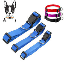 S M L XL Medium Dog Collars Adjustable Pet Cat Puppy Nylon Collar Neck Buckle