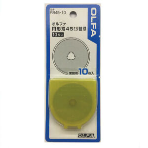 OLFA 45mm Tungsten Replacement Rotary Cutter Blades 10 Pack RB45-10