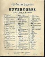 Keler Bela - Lustspiel-Ouverture ~ für Klavier vierhändig, alte, übergroße Noten