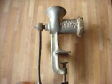 vintage meat grinder hand operated no. 323 -ok condition