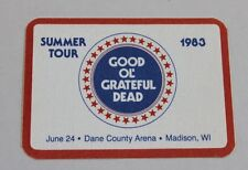 Grateful Dead Backstage Pass 6-24-83 Dane County Arena Madison Wisconsin