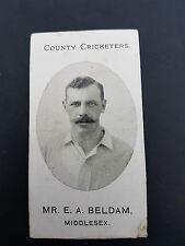 RARE CRICKET - TADDY 1907 cigarette tobacco card MIDDLESEX Beldam