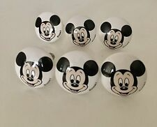 High Quality Disney Mickey Mouse Cabinet Drawer Pulls Knobs Handles Lot Of 6 Ceramic