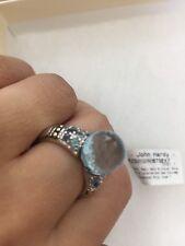 John Hardy Silver Ring Blue Topaz Kali Size 7