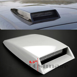 """10"""" x 7.25"""" Front Air Intake ABS Unpainted White Hood Scoop Vent For Honda Acura"""