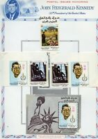 SOUTH ARABIA JOHN  F.  KENNEDY MEMORIAL PERF &  IMPERF SET & S/S MINT HINGED