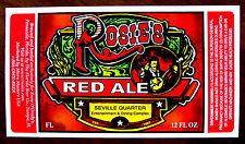 Rosie O'Grady's by Florida Beer ROSIE'S RED ALE label FL 12 oz